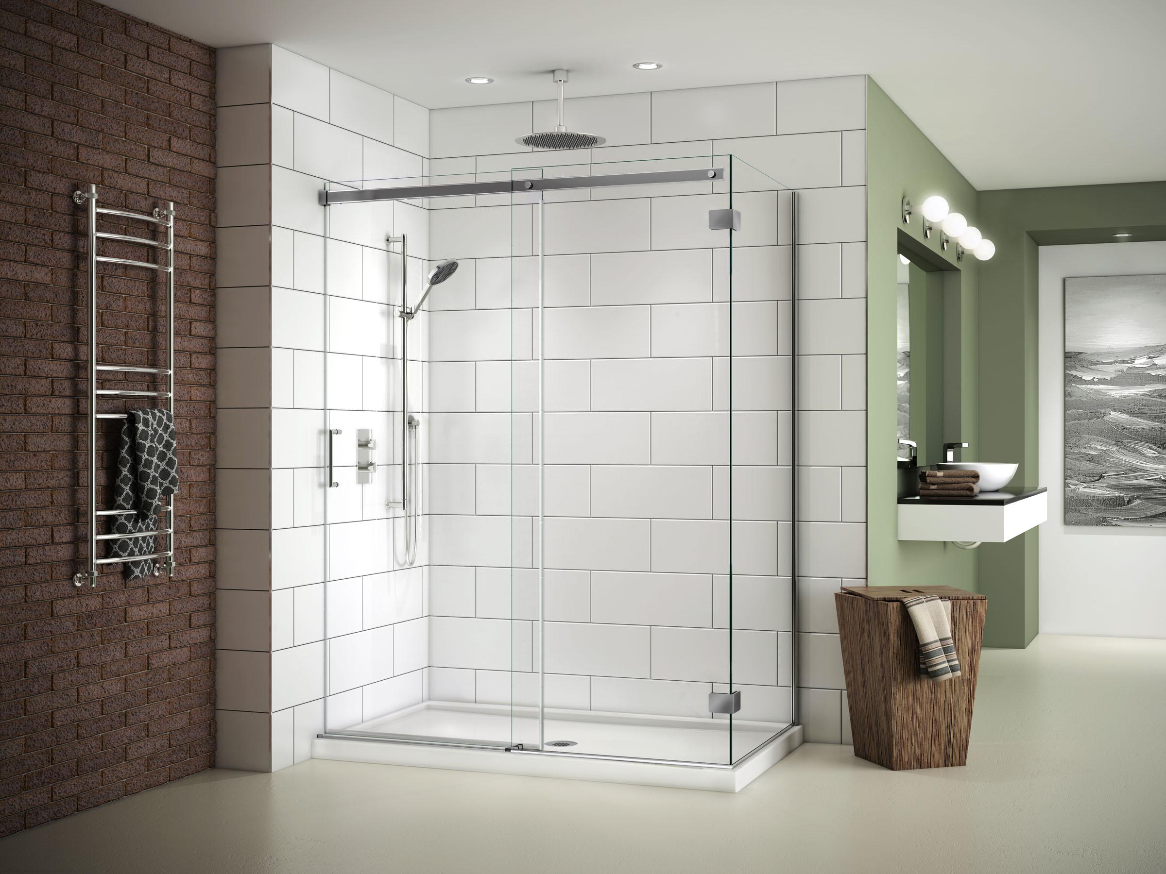 Fleurco 45 48 Quot X 75 Quot X 32 Quot Apollo Frameless Sliding Shower