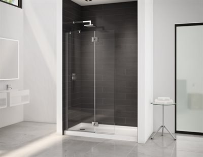 Select Monaco Square top shower shield, 3/8 (10 mm) glass, 79 H (80 1/2 to top of support bar)