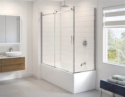 *COMING SOON* Horizon 2 sided tub enclosure, 5/16 (8 mm) glass, 66 H