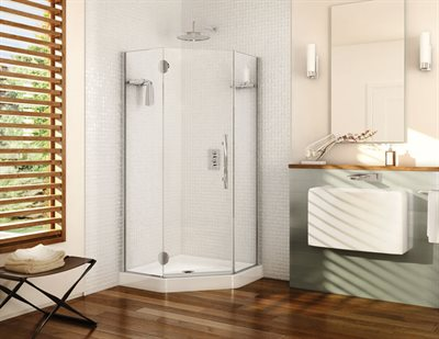 Platinum Neo Angle single door, 3/8 (10-mm) glass, 79 H (80 1/2 with support bar)