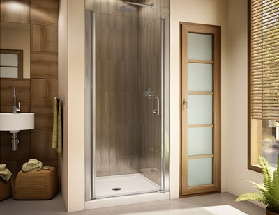 Sevilla 70 Semi-frameless in-line pivot door, 70 H