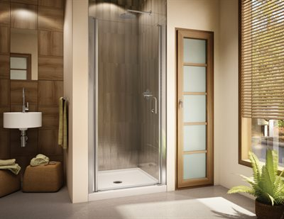 Sevilla 64 Semi-frameless in-line pivot door, 64 H