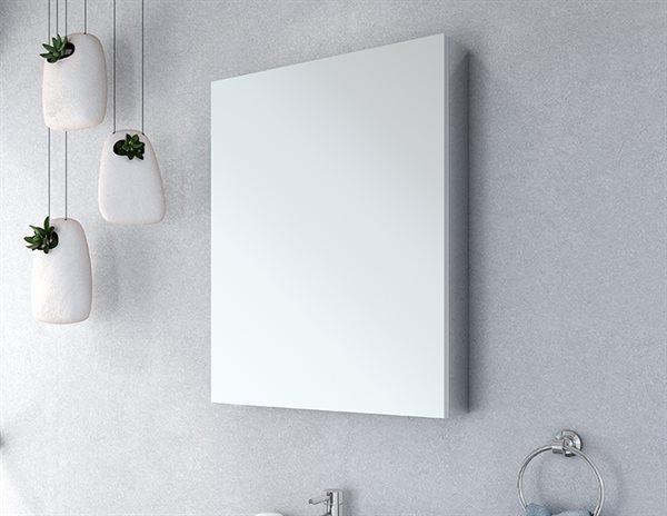 Fleurco Luna Medicine Cabinets Single View Flat Edge