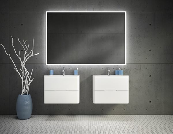 Fleurco Luna Lighted Mirrors Halo