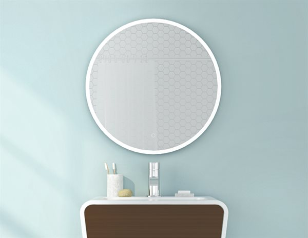 Fleurco Luna Lighted Mirrors Halo Round