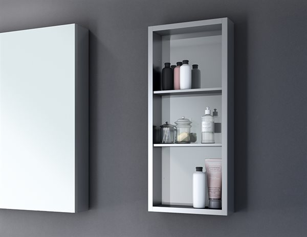 Fleurco Luna Medicine Cabinets Mirror Tower Shelf
