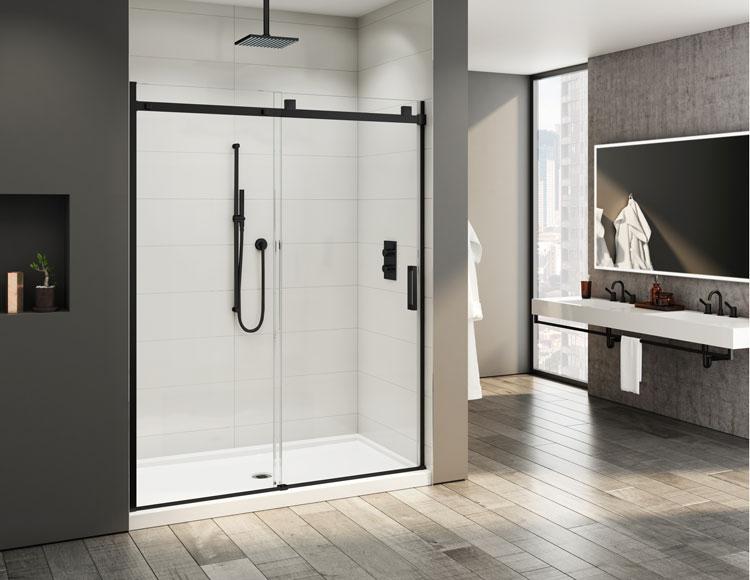 Salle de bain en noir mat  Fleurco