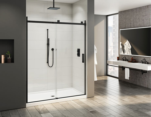 Skyline in-line sliding shower door - Fleurco